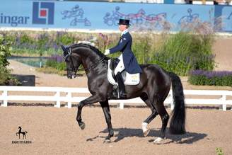 Stockholm/SWE: Dante Weltino OLD and Therese Nilshagen in the Saab Top 10 Dressage Final